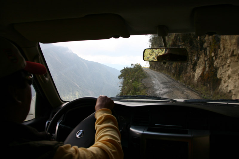 the death road, la paz, coroico, bolivia