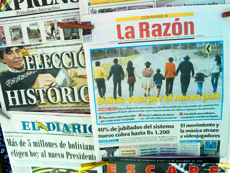 elections, bolivia, headlines