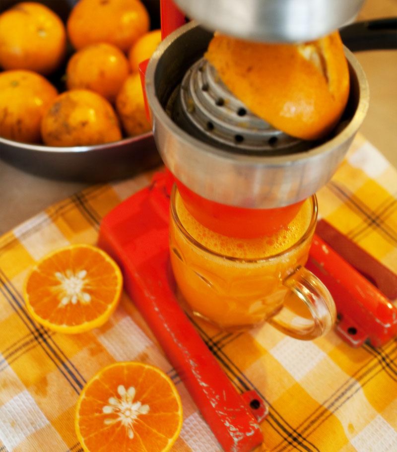 sok ze świeżo wyciśniętych mandarynek